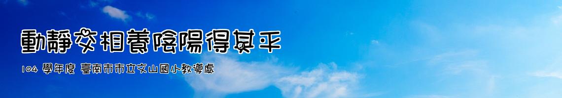104 學年度 臺南市市立文山國小教導處