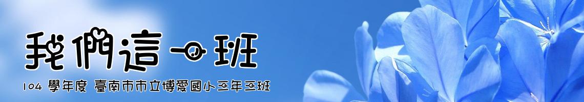 104 學年度 臺南市市立博愛國小三年三班