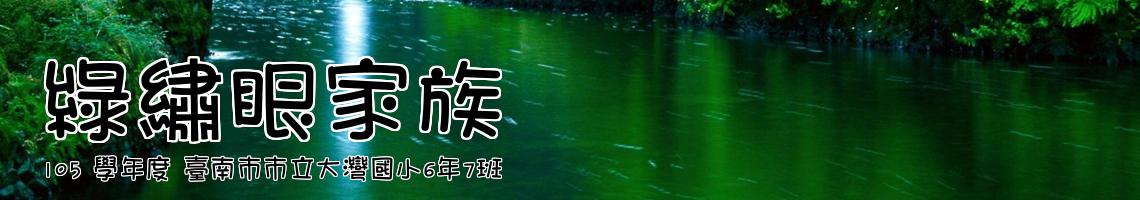 105 學年度 臺南市市立大灣國小6年7班