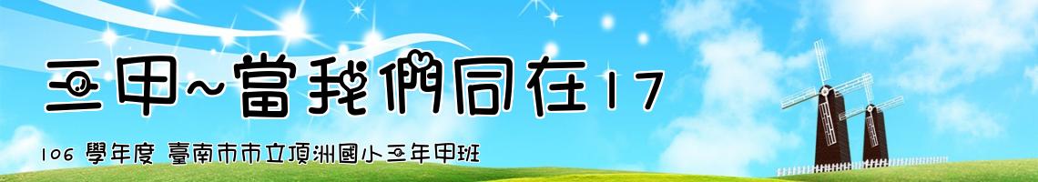 106 學年度 臺南市市立頂洲國小三年甲班