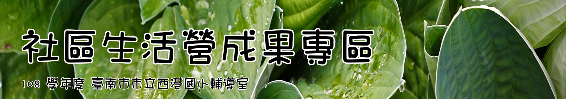 Web Title:108 學年度 臺南市市立西港國小輔導室