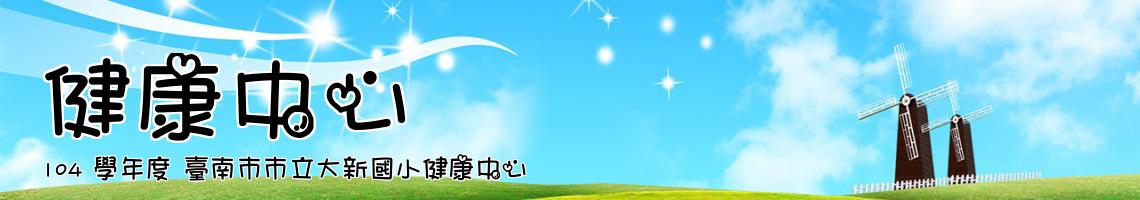 104 學年度 臺南市市立大新國小健康中心